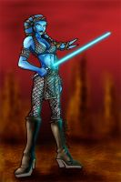 Aayla Secura on Parade by PIXEL-Of-DOOM