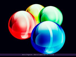Colorized Globes by mozhgan