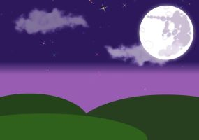 Mare In The Moon Landscape by Crackersgaming