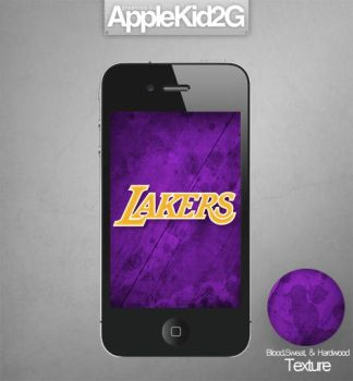 L.A. Lakers iPhone Wallpaper by TevinFields