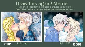 Draw this again! (Jelsa) by CoffeeVulture