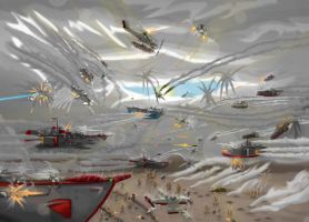 An old skyship battle by SkyShipColonel