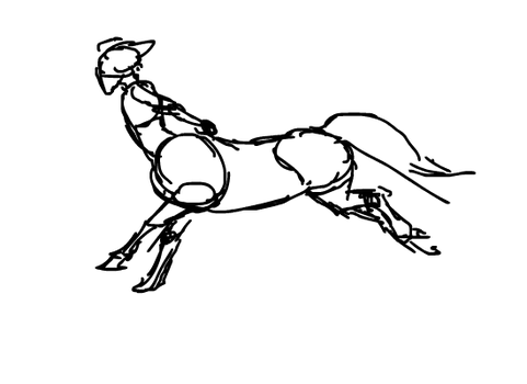 Centaur animation doodle by Linda065cliva