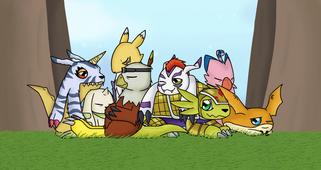 Resting Within The Woods by TheArtsyDigimon