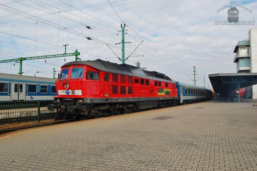 651 004 with an IC train in Sopron by morpheus880223