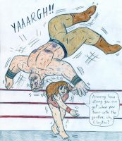 Wrestling Jane vs Clayton by Jose-Ramiro