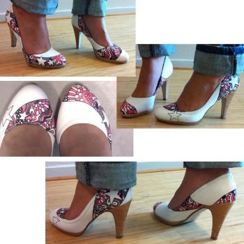 Customized white shoes by K1MAGA1N