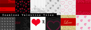 12 Seamless Valentine Tiles by pvtpyro