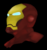 Iron Man Headshot by AStolenRelic
