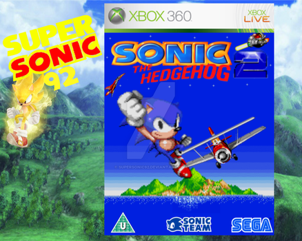 Sonic The Hedgehog 2 Box Art by SuperSonic92