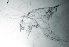 spaceship concept sketches by tombru