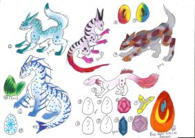 ADOPTABLE egg, creatures, and CUSTOMS by MidxNight