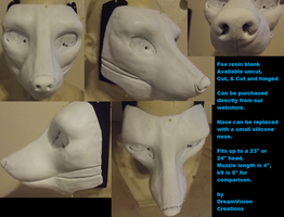 Fox resin blank by Monoyasha