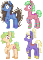 Marking Pony Adoptables - 3 OPEN by Keep-Yourself-Alive