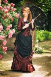 Springtime promenade - victorian bustle gown by Stahlrose