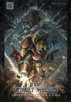 The Starry Wolves Poster by J-C