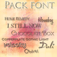 Pack Font #3 by giuforqdg