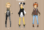 Adoptable batch No. 1 by Louloukeadopts