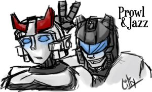 Prowl and Jazz by liliy