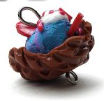 cotton candy ice cream bowl by MotherMayIjewelry