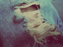 Hole in my jeans. by vycapeneMORCE