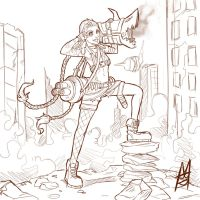 Jinx sketch by MauroIllustrator