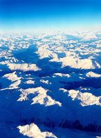 Alps from a Plane by tigerous