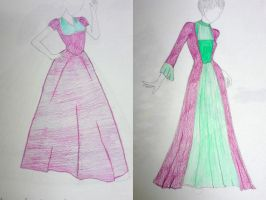 Late Victorian Coordinating Gowns by krswanson