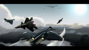 Ace Combat X- Apalis Vs Fenrir by zzhangster
