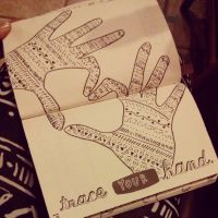 Wreck This Journal: Trace Your Hand by heather24242