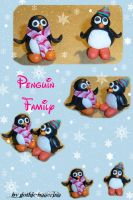Penguin Family by gothic-ballerina