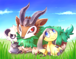 Gogoat, Elikiteru and Yancham by Akusuru