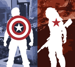 Captain America: Winter Soldier Phone Background by UrLogicFails