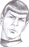 Spock (first sketch) by MonacoMac