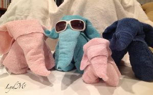 Towel Elephants on Parade by LydMc