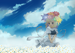 .:flowers at the moon:. by EvilQueenie