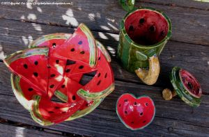 Watermelon Tableware Set by CrystalPlum