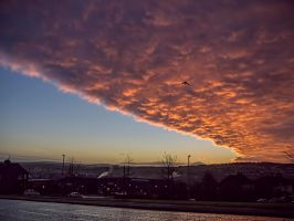 sunrise vs weather front by derrybarry