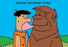 Kissing the Barney stone by AVRICCI