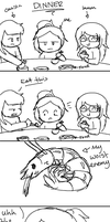 What happened at dinner by Gameaddict1234