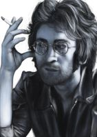 John Lennon by thesadpencil