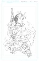 Lady M  Big Wow'11 Auction Piece  pencil Print by joebenitez