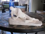 Reclining Man - Sculpture by PumpkinJack6