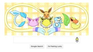 Google Logo Design -Eeveelution- by asdfg21