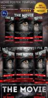 Movie Poster Template Vol.6 by Ruthgschultz