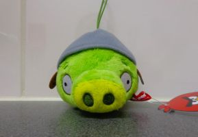 Helmet Piggy Japanese plushie by Gallade007