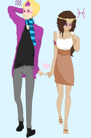 Humanstuck: Fef and Eridan by KawaiiGirl15