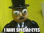 The Fat Controller has Special Eyes by BramGroatonDA