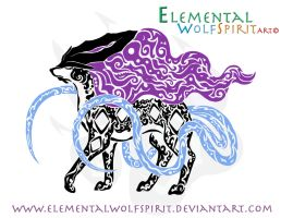 Tribal Suicune by ElementalFurs