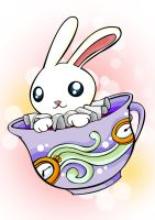 Rabbit on the teapot by raymerta